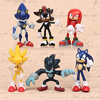 Amazon Com Sonic The Hedgehog Kids Toy 6pcs Action Figure Set Gift Doll Toy Christmas Game Toys Games