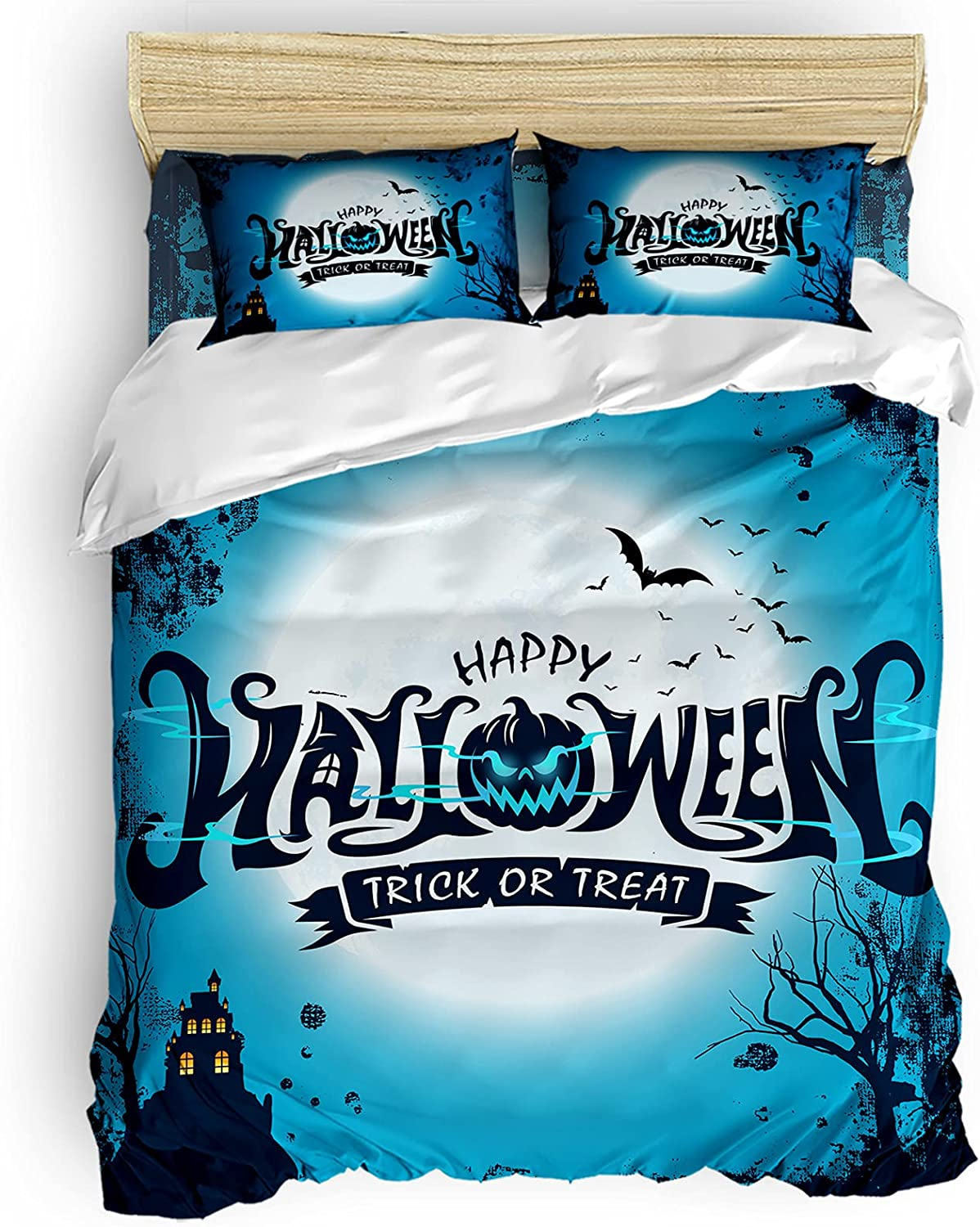 Libaoge Duvet Cover Set Twin Size Full Halloween Max 66% OFF Max 47% OFF Ultra Moon Soft