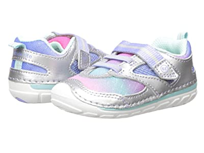 Stride Rite SM Adrian (Infant/Toddler) (Silver Multi) Girls Shoes