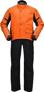 ヤマハ(YAMAHA) バイク用 レインスーツ YAR18 サイバーテックスIII ダブルガードレインスーツ オレンジ 4L