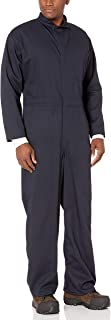 Bulwark Men's Flame Resistant 9 Oz Twill Cotton Classic Coverall with Hemmed Sleeves