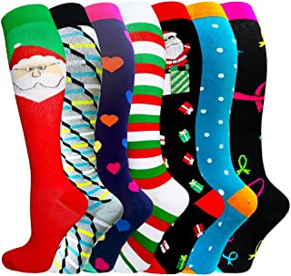 Compression Socks for Women&Men (20-30mmHg)- Best for Running, Travel,Cycling,Pregnant,Nurse, Edema