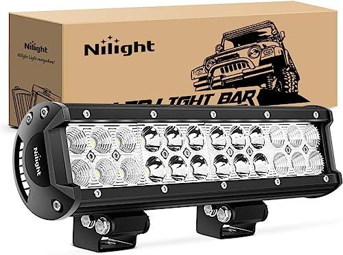 discount Nilight - NI06A-72W 12Inch 72W Spot Flood Combo Led Light Bar Off Road Lights Boat popular Lights Fog Light Driving Lights LED Work Light for sale Trucks, 2 Years Warranty online