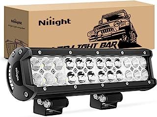 Nilight NI06A-72W 12Inch 12 Inch 72W Spot Flood Combo Bar Off Road Boat Driving Led Work Light SUV Jeep Lamp 12Inch 72W Li...