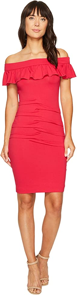 Nicole Miller - Minka Jersey Off the Shoulder Dress