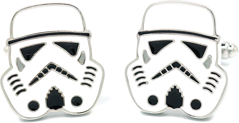 Teri's Boutique Stormtrooper Men's Cuff Links Comic Fashion Jewel w/Gift Box