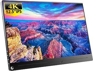 EVICIV 12.5インチ/4K HDR/モバイルモニター/モバイルディスプレイ/薄型/IPSパネル/USB Type-C/標準HDMI/mini DP/スタンド付 EVC-1201
