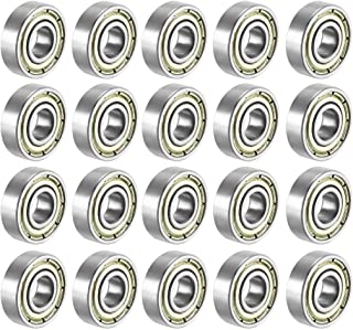 Double Shielded,8x22x7 Miniature Ball Bearings Pack of 100 Sackorange 100 PCS 608 ZZ Skateboard Bearings
