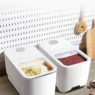 【𝐏â𝐪𝐮𝐞𝐬】 Boîte de rangement de riz, ménage scellé étanche à l'humidité grande nourriture conteneur de stockage de gra...