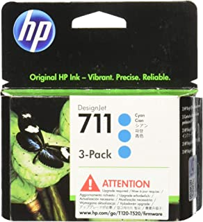 HP 711 3-pack 29-ml Cyan Designjet Ink Cartridge (CZ134A) for HP DesignJet T120 24-in Printer HP DesignJet T520 24-in Printer HP DesignJet T520 36-in PrinterHP DesignJet printheads help you respond quickly by providing quality speed and easy hassle-free printing