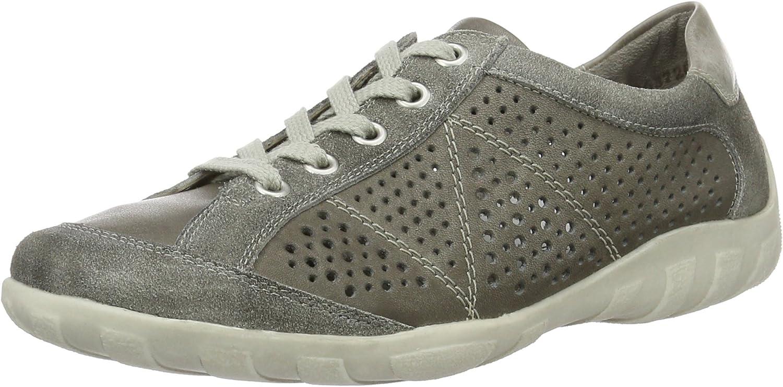 Remonte kvinnor Lace -Up skor skor skor gråa, (quarz  ljusblåused) R3402 -10  begränsad utgåva