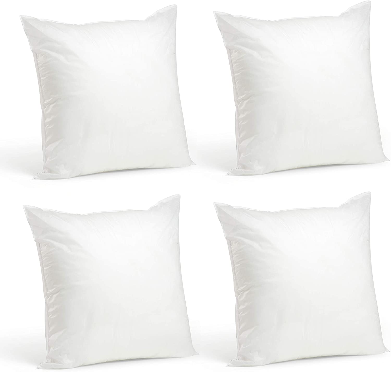 Foamily Throw Pillows Insert Set of 4-20 x 20 Insert for Decorative Pillow Covers - Made in USA - Bed and Couch Pillows : Home & Kitchen