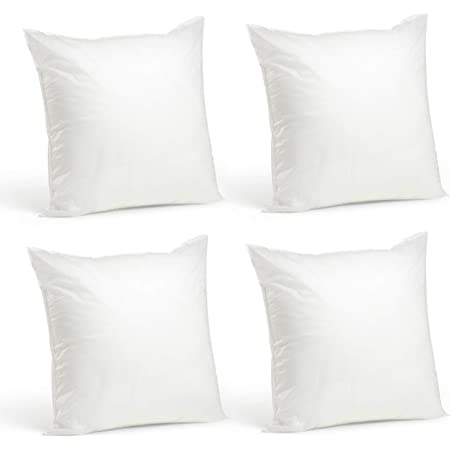 Amazon Com Foamily Premium Hypoallergenic Stuffer Pillow Insert Sham Square Form Polyester 12 L X 12 W Standard White Home Kitchen