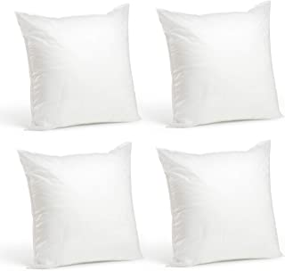 Foamily Set of 4-20 x 20 Premium Hypoallergenic Stuffer Pillow Inserts Sham Square Form Polyester, 20
