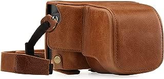 MegaGear MG1403 Leica Q (Typ 116) Hakiki Deri Kamera Çantası, Açık Kahve