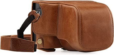 Megagear MG1403 Leica Q-P, Q (Typ 116) Ever Ready Genuine Leather Camera Case and Strap, with Battery Access, Brown
