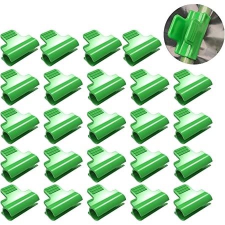 YIREAUD 40pcs Greenhouse Clamps Clips Row Cover Netting Tunnel Hoop Clips,Shed Film Shading Net Rod Clip for 4mm Plant Stakes
