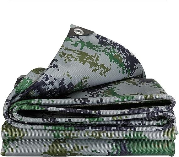WZLDP épaissir imperméable Camouflage Camion bache de Pluie Toile de Prougeection Solaire Pare-Soleil Toile de Tissu de PVC Oxford Anti-UV