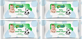 SunBaby Water Wipes (15wipes) with 99% Water & 1% Aloe Vera Extract - Panda - Green (Buy 3 Get 1 Free)
