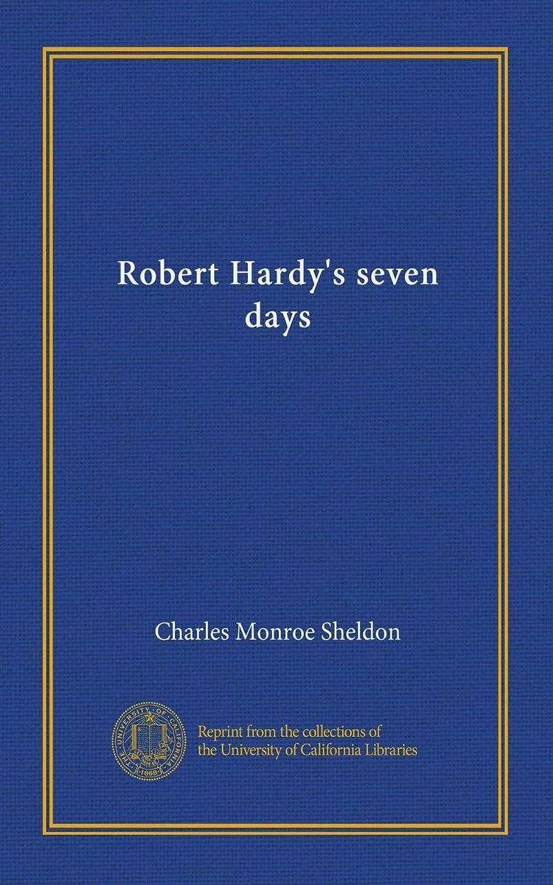 表面免除するパーチナシティRobert Hardy's seven days