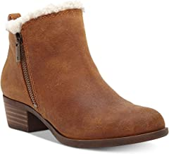 Lucky Brand Womens Baselsher Leather Ankle Booties
