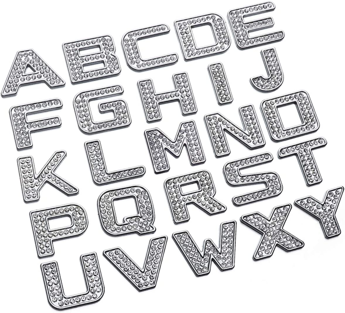 5 ☆ very popular ECYC Rhinestone Letter Stickers Alphabet L Max 90% OFF Number House