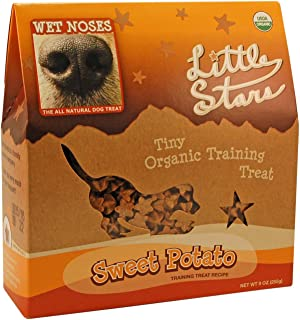 Wet Noses Little Stars All Natural Dog Treats, Made in USA, 100% USDA Certified Organic, Non-GMO Project Verified, 14 Oz