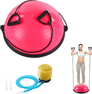 KOKSRY Exercise Ball, Balance Ball with Resistance Bands, Half Ball Balance Trainer Bonus Pump for Yoga Fitness, Stability...