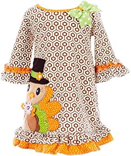 Girls Pilgrim Turkey Size 2T-6X Thanksgiving Dress