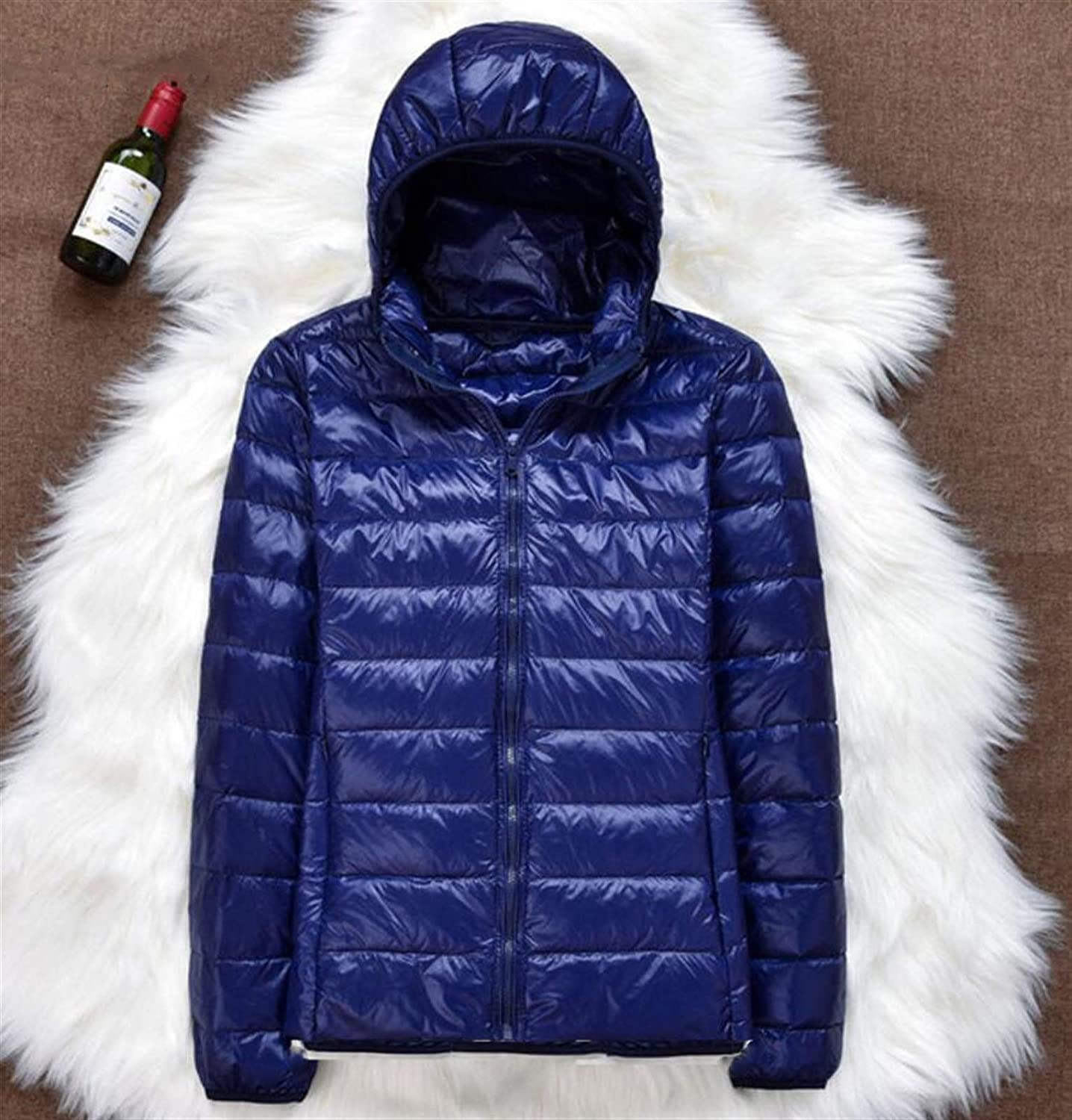 Cash special price Thickened Down Jacket Leather Plaid Light Ultra Coat Super-cheap New Winter