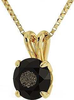 14k Yellow Gold Arabic Necklace Ayatul Kursi 24kt Gold Inscribed on Crystal, 18
