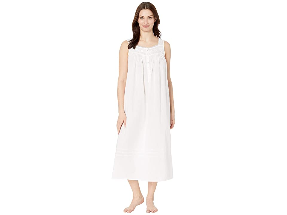 Eileen West Cotton Woven Lawn Ballet Nightgown (Solid White) Women
