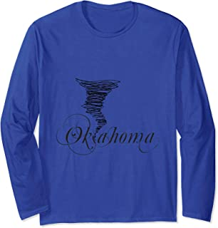 Funny Oklahoma T-Shirt Love Oklahoma Tornado Shirt Long Sleeve T-Shirt