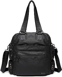Sponsored Ad - 21K Barcelona 3in1 Shoulder bag, Backpack and Crossbody bag 1577 (Black)