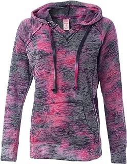 Weatherproof womens Courtney Burnout Hooded Pullover Blend Fleece (W1162)