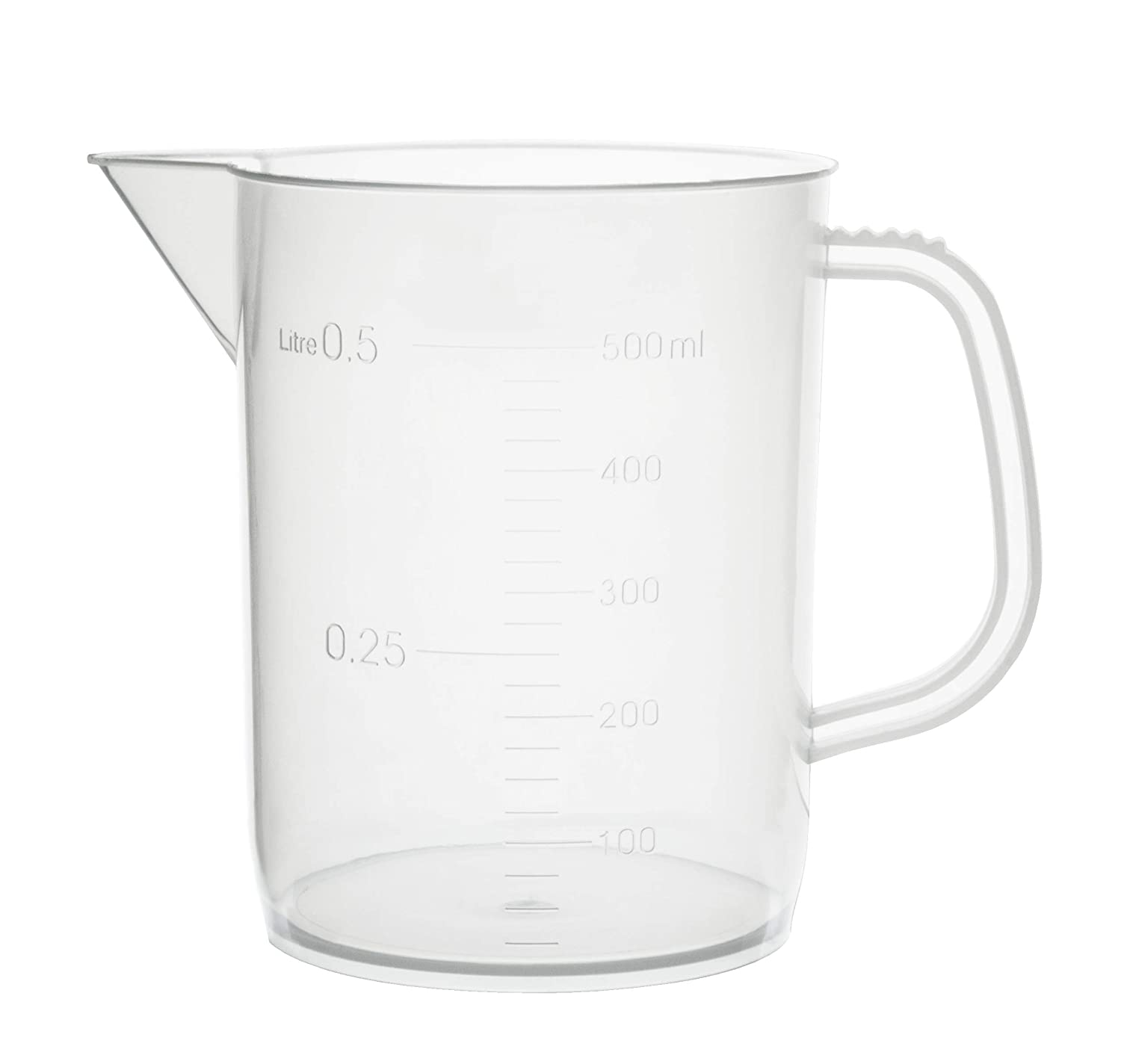 Eisco Labs 500ml Polypropylene Beaker 25m and with Max Now on sale 51% OFF Handle Spout