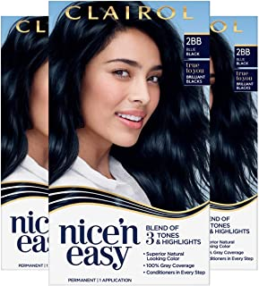 لون الشعر الدائم من كليرول نيسين إيزي، 2BB أزرق أسود، 3 قطع