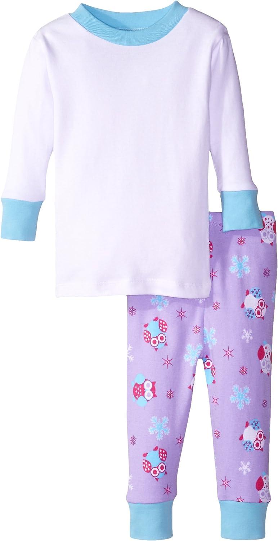 New Jammies Baby Girls' Organic Pajamas Snow Owls Girls' Top
