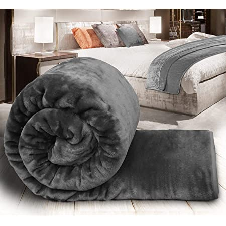 Home Warm Soft Solid Mink  Throw Large Fleece Sofa Bed Blanket Double King Size