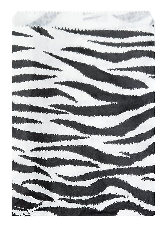 200 pcs Zebra Print Paper Gift Bags Shopping Sales Tote Bags 6