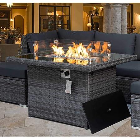 Amazon Com Napoleon Sttr2 Bz St Tropez Square Patioflame Patio Fire Table Bronze Garden Outdoor