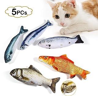 LIZHIGE Catnip Fish Toys, Juguetes Interactivos Soft Cat Felpa Pescado Realista Simulado Gato Juguetes de Menta Gatos Gatito