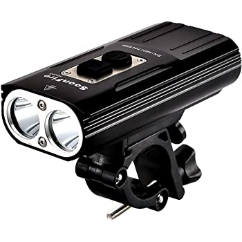 soonfire FD38S USB Rechargeable Bike Headlight,Two Cree XM-L2 LED 1870 Lumens,Waterproof Super Bright Bicycle Light,Simple Assembly and Disassembly