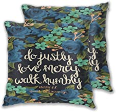 AW-KOCP 2 Packs Christian Bible Verses Decorative Throw Pillow Covers for Pillowcase, Many Pattern & Size Options