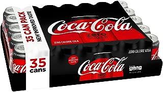 Coca-Cola Coke Zero Cans, 12 Ounce [35 Cans]