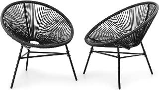 blumfeldt Las Brisas Sedie da Giardino Set di 2 Design retr/ò Copertura Realizzata a Rete di 4mm Grigio Materiale: Acciaio Verniciato a Polvere Resistente agli Agenti Atmosferici