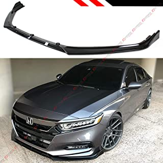 Fits for 2018-2019 Honda Accord 10TH Gen Sport JDM 3 PiecesDesign Front Bumper Lip Splitter - Gloss Black