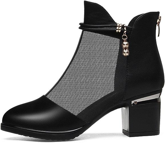 GTVERNH-Chaussures pour Femmes Fashion 7Cm des Chaussures à Talons Haut Brutal Et Profond des Chaussures des Chaussures De Femme.