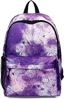 Galaxy School Backpack Canvas Rucksack Laptop Book Bag,Satchel Hiking Bag Unisex USB Charging Port Fits 15 Inch Laptop School Bag Travel Casual Rucksack
