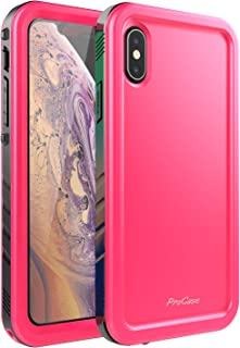ProCase iPhone XS Max Case, Rugged Full-Body Protective Case with Built-in Screen Protector Heavy Duty Shockproof Bumper Cover for Apple iPhone Xs Max 2018 Release -Pink
